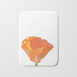 California Poppy Bath Mat