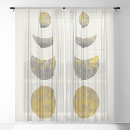 Abstraction_Lunar_Eclipse_Minimalism_001 Sheer Curtain
