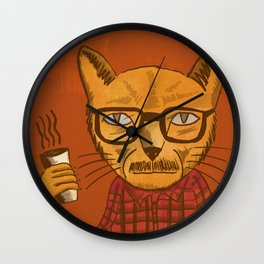 Working with designers is like herding cats Wall Clock