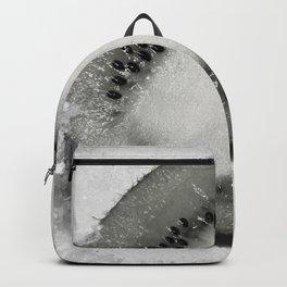 Half of Kiwi Fruit Black and White Juicy Retro Vintage Vibe Look Backpack