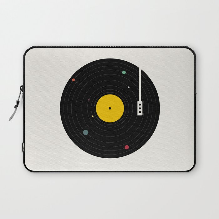 vintage record laptop sleeve for university students