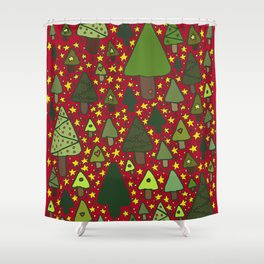Small Trees Shower Curtain