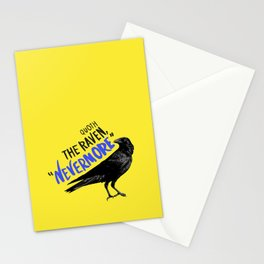 Nevermore Raven - Yellow Stationery Cards