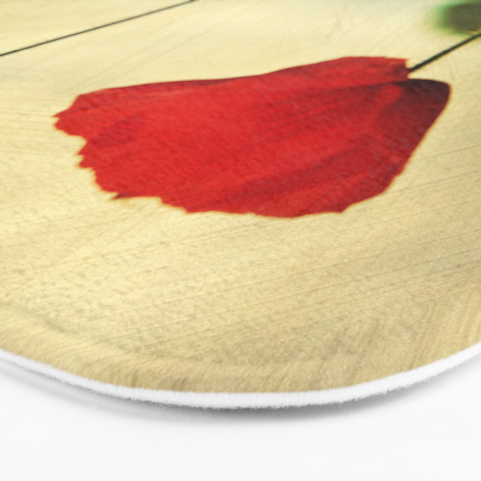 Red Poppy Bath Mat
