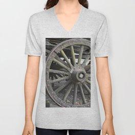 Raw Chariot Wheel Unisex V-Neck