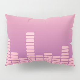 Pink Equalizer Pillow Sham