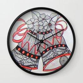 Jingle Bell Zentangle Wall Clock