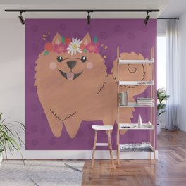 Pomeranian Princess Wall Mural