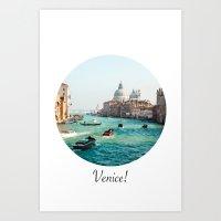 venice Art Prints featuring Venice! by Adrian Lungu