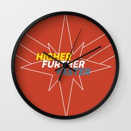 higher further faster Wall Clock