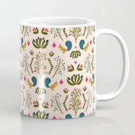 Squirrel Damask Coffee Mug
