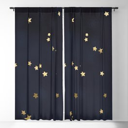 Gold Stars Blackout Curtain