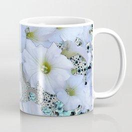 SNOW WHITE PETUNIA FLOWERS ART Coffee Mug