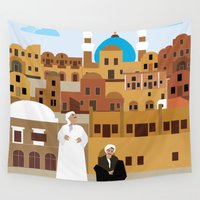 morocco Wall Tapestries featuring Marrakech, Morocco  by Design4u Studio