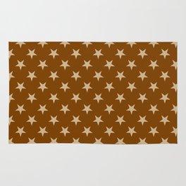 Tan Brown on Chocolate Brown Stars Rug