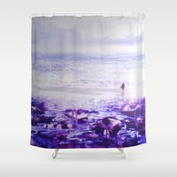 return Shower Curtains featuring A Return. by Ian Durneen Illustration
