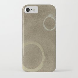 Two Circles - Modern Art - Abstract - Fine Art - California Cool - Popular Painterly iPhone Case