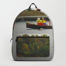 Boat Passing Light House Backpack