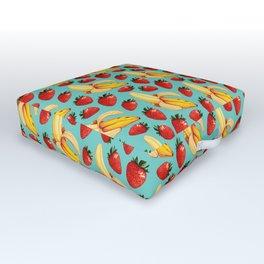 Strawberry Banana Pattern Outdoor Floor Cushion