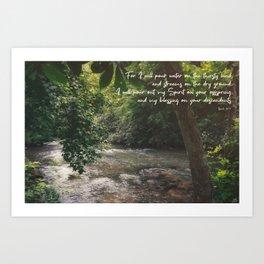 Isaiah 44 3 II #bibleverse #scripture Art Print