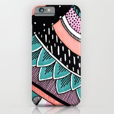 Pink & Coral Feather Pattern iPhone 6s Slim Case