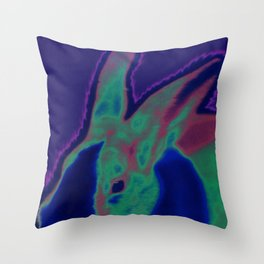 Solar Bunny Throw Pillow