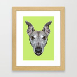 Whippet // Green (Vespa) Framed Art Print
