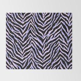 Zebra fur texture print II Throw Blanket