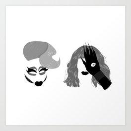 Trixie and Katya Kunstdrucke