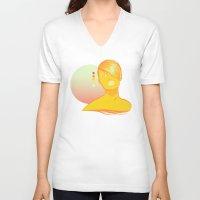 vodka V-neck T-shirts featuring Vodka Sunrise  by PKLdesigner