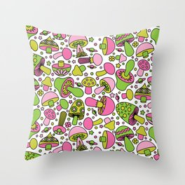 Shroomin Hi-Lite Throw Pillow