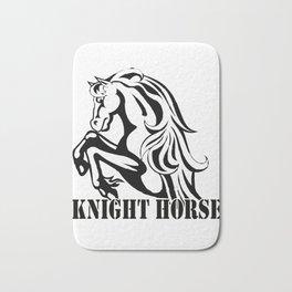 knight horse Bath Mat