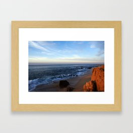 Water meets Sand on the Beach in Los Cabos Mexico Framed Art Print