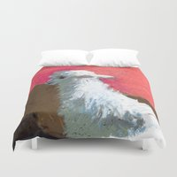 alpaca Duvet Covers featuring Alpaca Sunset by J Han