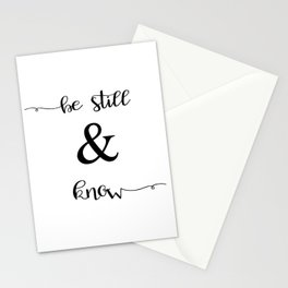 Be Still and Know Psalm 46:10 Stationery Cards