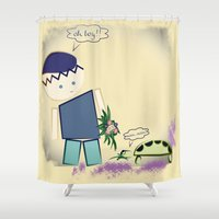 best friends Shower Curtains featuring Best Friends by famenxt
