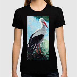 Animal - The beautiful stork - by LiliFlore T-shirt
