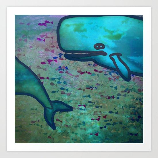 Dear Whale Art Print