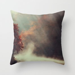 Breathing River Throw Pillow