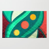 planets Area & Throw Rugs featuring Planets by VessDSign