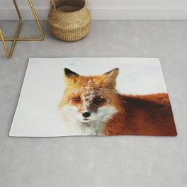 Snowy Faced Fox Rug