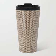 Knitted spring colors - Pantone Hazelnut Travel Mug
