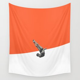 Diver (orange) Wall Tapestry