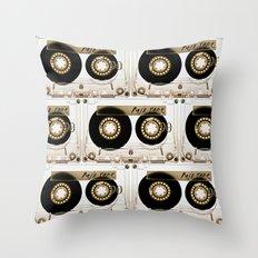 Transparant mix tape Retro Cassette Throw Pillow