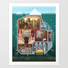 Scene #05: 'The tip of the iceberg' Art Print