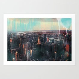 Spray paint the City Art Print