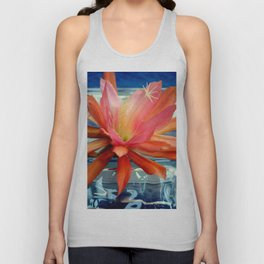 The Water Lily Cactus Unisex Tank Top