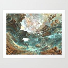 Aqua Space Shipyard Art Print