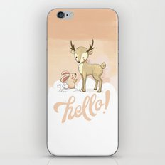 the deer & rabbit iPhone & iPod Skin