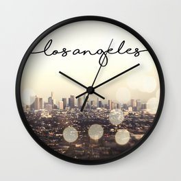 California, Los Angeles, beach, seaside, ocean, surf, downtown, Cali, SoCal, west coast, sky, summer Wall Clock